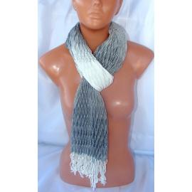 grigio chiaro Pashmina Sciarpa Uomo & DONNA cotone colori sfumati