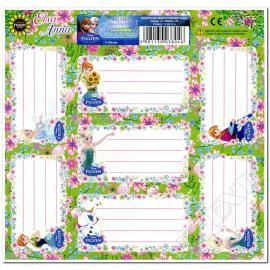 VIOLETTA etichette adesive per quaderni 1foglio 7 pezzi