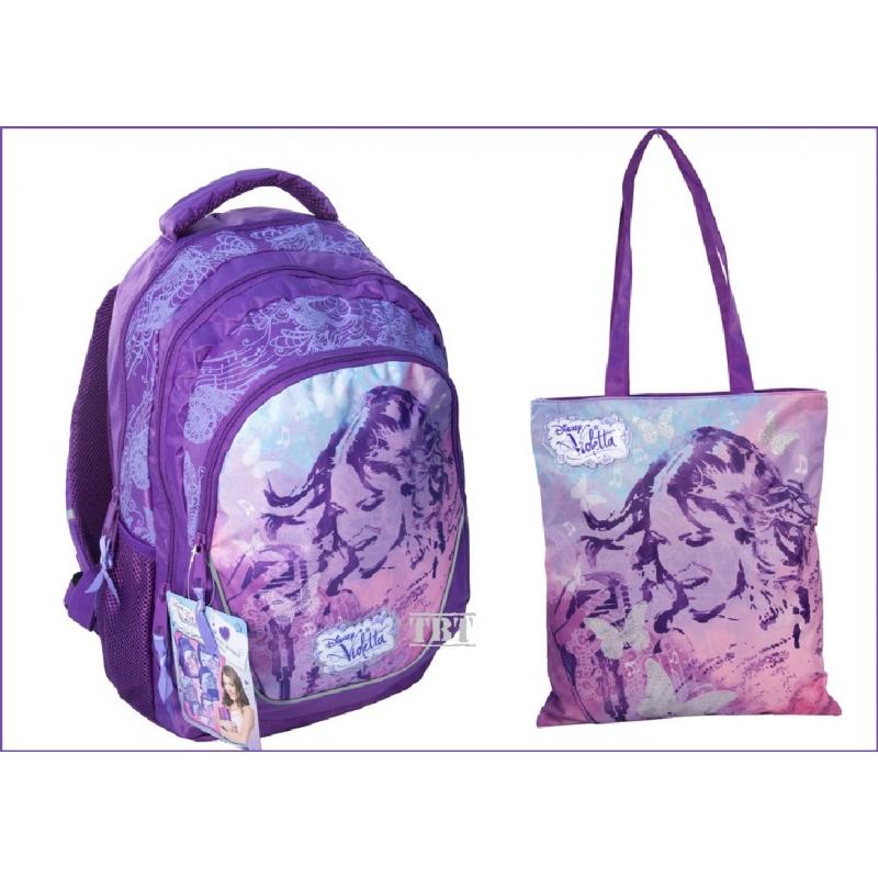 b019541969 Viola di VIOLETTA grande zaino scuola piu borsa originale Disney. Loading  zoom