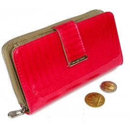 shiny wallet Jennifer Jones Woman Purse genuine leather 12 cards cards