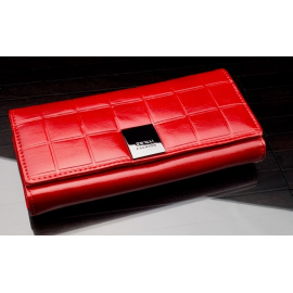 shiny wallet CAVALDI Woman Purse genuine leather 12 cards cards