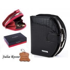 shiny wallet Horseshoe Julia Rosso Woman Purse genuine leather cards