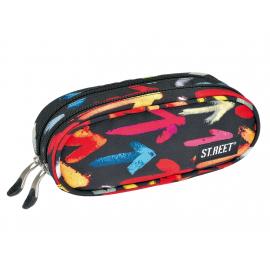 Two zippered pencil case ST.REET ARROWS school original