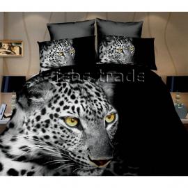 LEOPARDO set lenzuola 3D letto singolo COPRIPIUMINO 160x200cm in scatola Cotton World bambini ragazzi