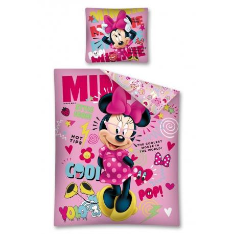 Minnie mouse disney set lenzuola letto singolo copripiumino 160x200cm 100 cotone bambini - Lenzuola letto singolo bambino ...