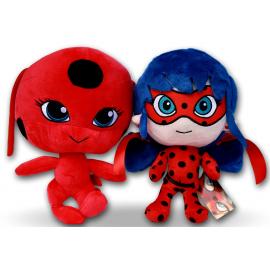 Ladybug Miraculous + Cat Noir 20cm Morbido Peluche Coccinella Gioco Bambina