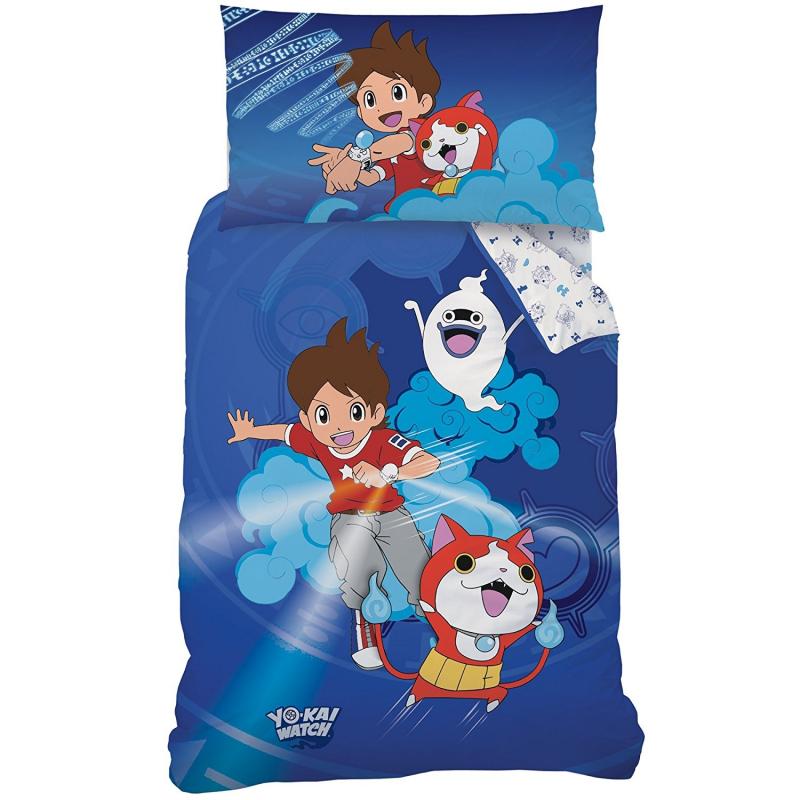 Yo di kai watch set lenzuola letto singolo copripiumino 140x200cm 100 cotone bambini ragazzi - Lenzuola letto singolo bambino ...