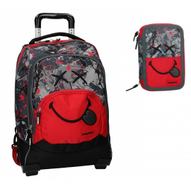 set school backpack Trolley Smyley World