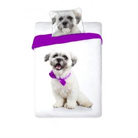 Maltese Cane Cucciolo bianco Set lenzuola, Copripiumino 160x200 letto singolo 100% cotone Biancheria da letto