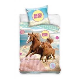Cavallo Animal Planet Set lenzuola, Copripiumino 160x200 letto singolo 100% cotone Biancheria da letto