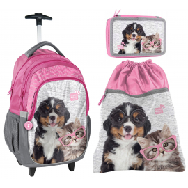 set school backpack Trolley Studio Pets