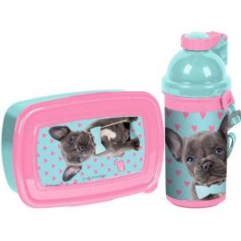 Studio Pets Gatto Hello Set Box Porta Merenda + Borraccia Automatica Scuola