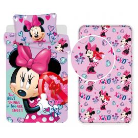 Minnie Heart set 3pcs of sheets single bed DUVET COVER