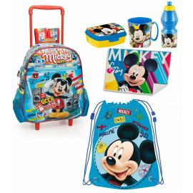 Mickey Mouse Mickey Mouse Disney Set 6 pieces Rucksack Trolley, kindergarten school
