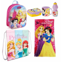 Princess Set 6p Backpack 3D Backpack, Towel, School Daycare Bag