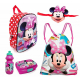 Minnie Mouse Disney Duo Reversible Set 6 pieces Schoolbag Backpack 3D school kindergarten