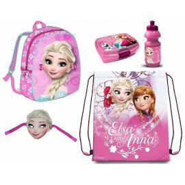 Frozen Disney Set 6 pezzi Zainetto Zaino 3D,Sacca Sport,Porta Merenda Scuola Asilo