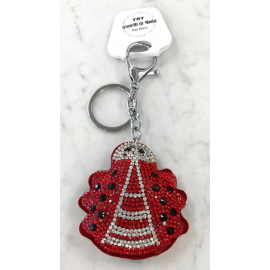 Small Ladybug Keychain, Soft Pendant for Bag or Backpack
