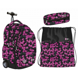 St.Right Cat CATS set Trolley Backpack, Pouch, School Bag Girl Girl Child