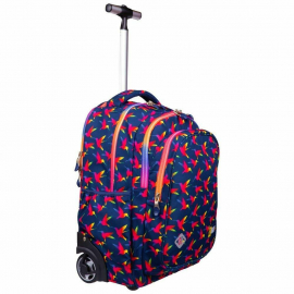 St.Right Raimbow Birds Zaino Trolley Scuola Elementare Media per Ragazza Bambina