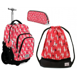 Oh My Pop! Cuzco Lama set Backpack Trolley 35L Sports Bag Girl School Bag
