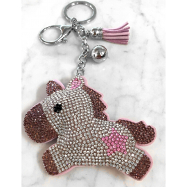 Unicorn 3D Keychain, Soft Pendant Women's Backpack Bag violet
