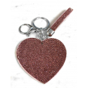 Heart Plate Keychain 3D, Soft Pendant Bag Women's Backpack violet