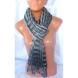 Pashmina Scarf Man & Woman patterned coton duble colors