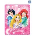 Coperta copertina in Pile Plaid Principesse Disney originale rosa 140 x 120cm