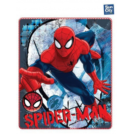 Coperta copertina in Pile Plaid Spiderman Marvel originale 140 x 120cm