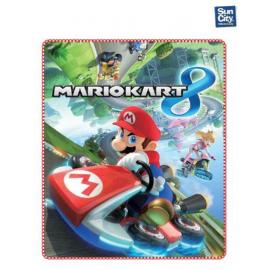 Coperta copertina in Pile Plaid Super Mario kart originale 140 x 120cm
