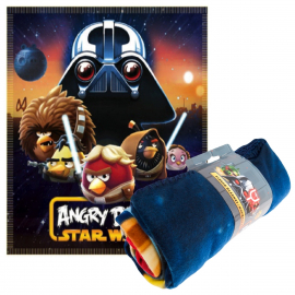 Fleece Blanket Plaid Angry Birds Star Wars orginal 140 x 120cm