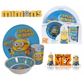 Minions set breakfast kids