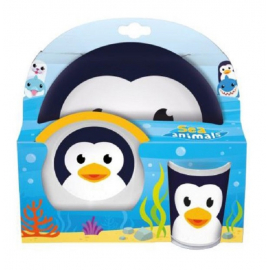 Penguin set breakfast kids