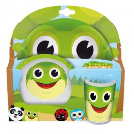 Frog set breakfast kids