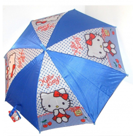 Hello Kitty baby girl red umbrella rain protection Automatic, Original