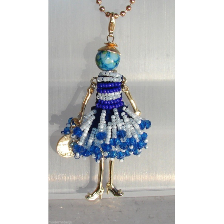 new collection doll dress beaded necklace, necklace doll, from red woman