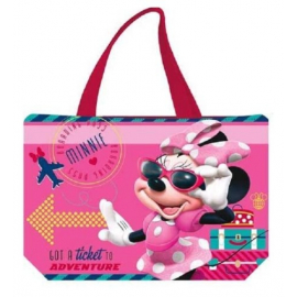 BAG BEACH BAG 50x34cm Minnie BEACH HOLIDAYS sports, games, purple GIRL