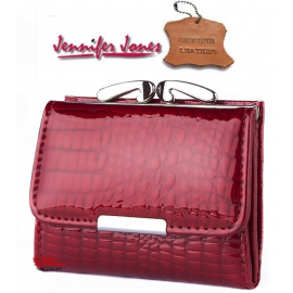 shiny wallet Horseshoe Julia Rosso Woman Purse genuine leather cards