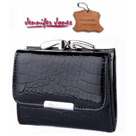 shiny wallet mini MONEY Jennifer Jones Woman Purse genuine leather cards