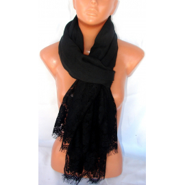 Elegant new SCARF STOLE Scarf with lace, cotton shawl Woman