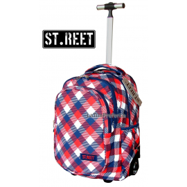 ST.REET CHEQUERED SIX school backpack Trolley original