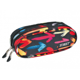 Two zippered pencil case ST.REET ARROWS school original