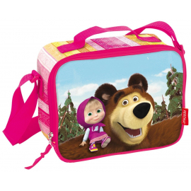 Masha and Bear backpack schoolbag 30 cm red