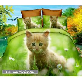 3D set of sheets single bed DUVET COVER 160x200cm Cotton World