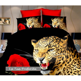 3D set of sheets single bed DUVET COVER 160x200cm Cotton World