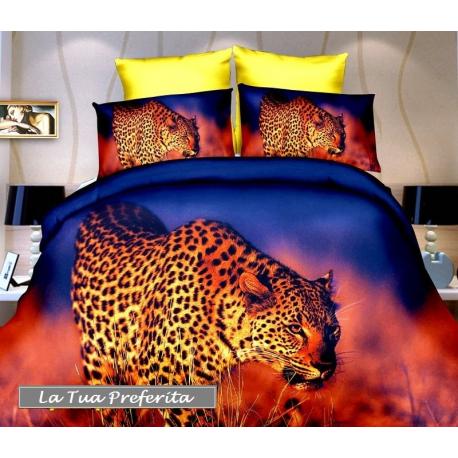 Copripiumino Ragazzi.Leopardo Set Lenzuola 3d Letto Singolo Copripiumino 160x200cm In