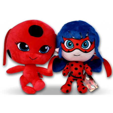 Ladybug Miraculous + Cat Noir 20cm Soft Plush Game Girl