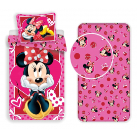 Minnie Mickey New York set 3pcs of sheets single bed DUVET COVER
