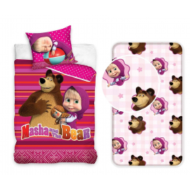Masha e Orso set 3pcs of sheets single bed DUVET COVER
